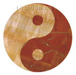 Flooring inlay:  Yin-Yang Stone Medallion